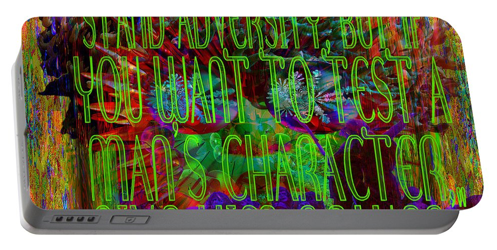 Complete Disorder And Confusion. Portable Battery Charger featuring the digital art Chaos And Power by Joseph Mosley