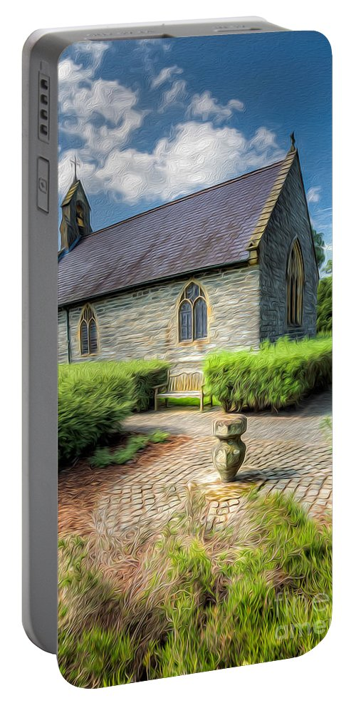 17th Century Portable Battery Charger featuring the photograph Chapel 17th Century by Adrian Evans
