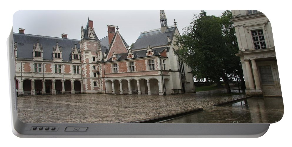 Palace Portable Battery Charger featuring the photograph Chapel And Courtyard Chateau Blois by Christiane Schulze Art And Photography