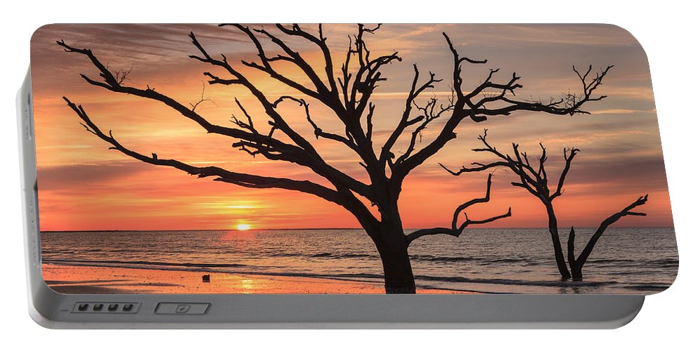 Charleston Portable Battery Charger featuring the photograph Charleston South Carolina Edisto Island Beach Sunrise by Carol VanDyke