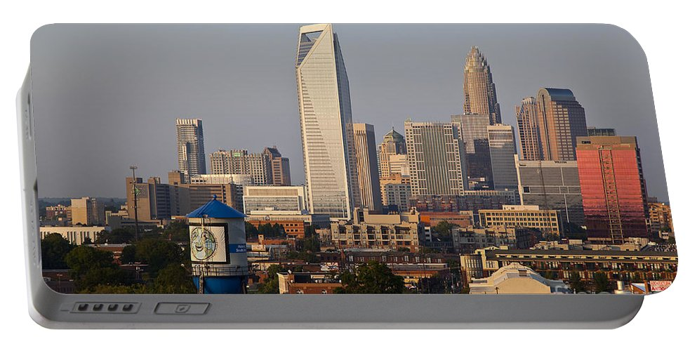 Skyline Portable Battery Charger featuring the photograph Charlotte In The Late Afternoon by Jill Lang