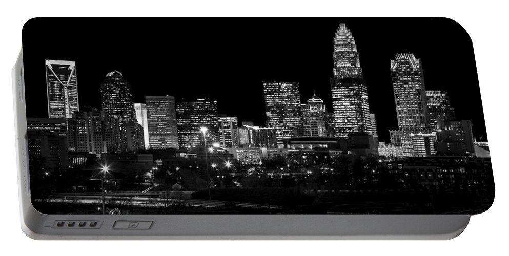 Charlotte Portable Battery Charger featuring the photograph Charlotte Night V2 by Chris Austin