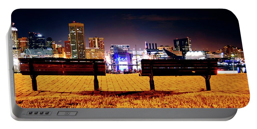 City Portable Battery Charger featuring the photograph Charm City View by La Dolce Vita