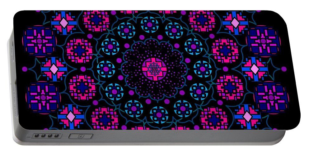 Digital Portable Battery Charger featuring the digital art Chartres 2013 by Kathryn Strick