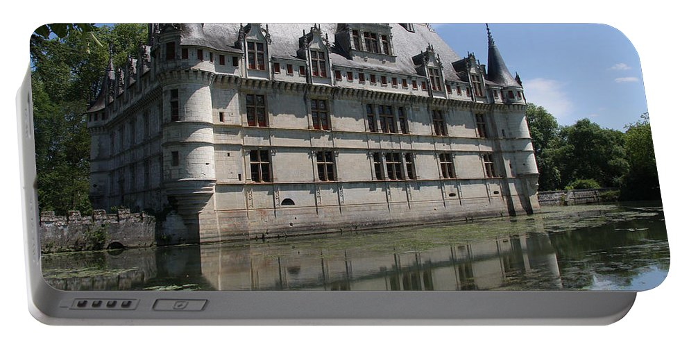 Castle Portable Battery Charger featuring the photograph Chataeu Azay-le-rideau by Christiane Schulze Art And Photography