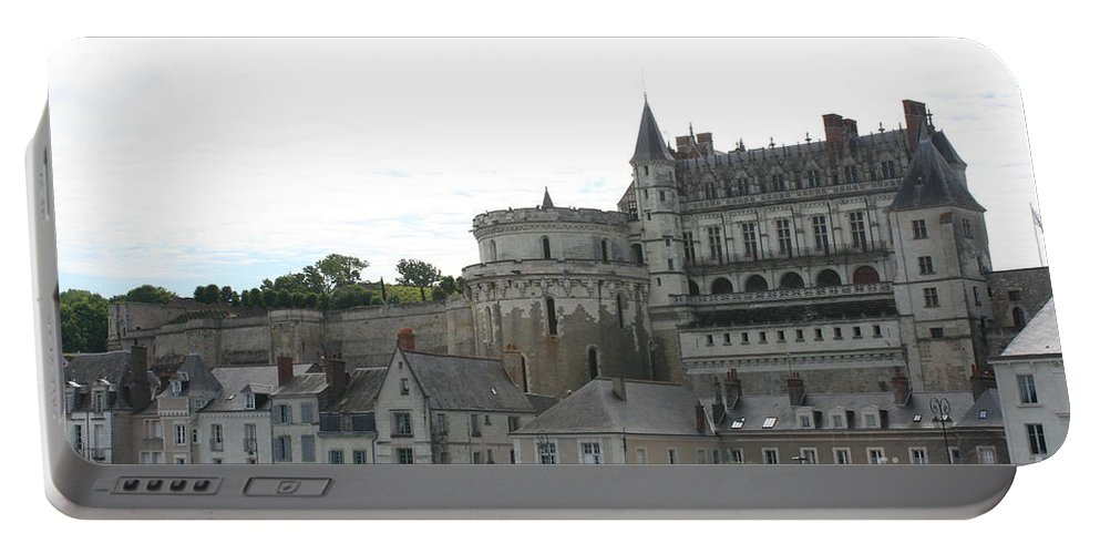 Palace Portable Battery Charger featuring the photograph Chateau Ambois Rises Above Its Town by Christiane Schulze Art And Photography
