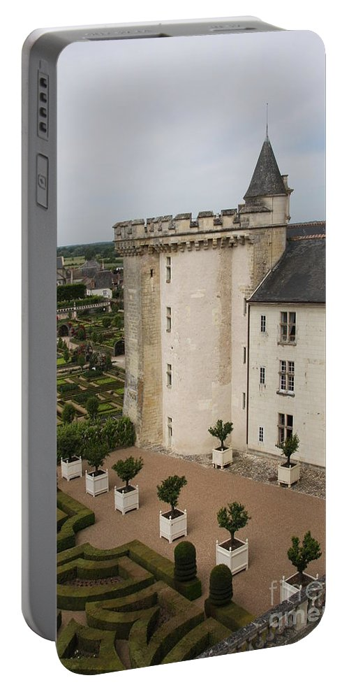 Palace Portable Battery Charger featuring the photograph Chateau And Garden - Villandry by Christiane Schulze Art And Photography