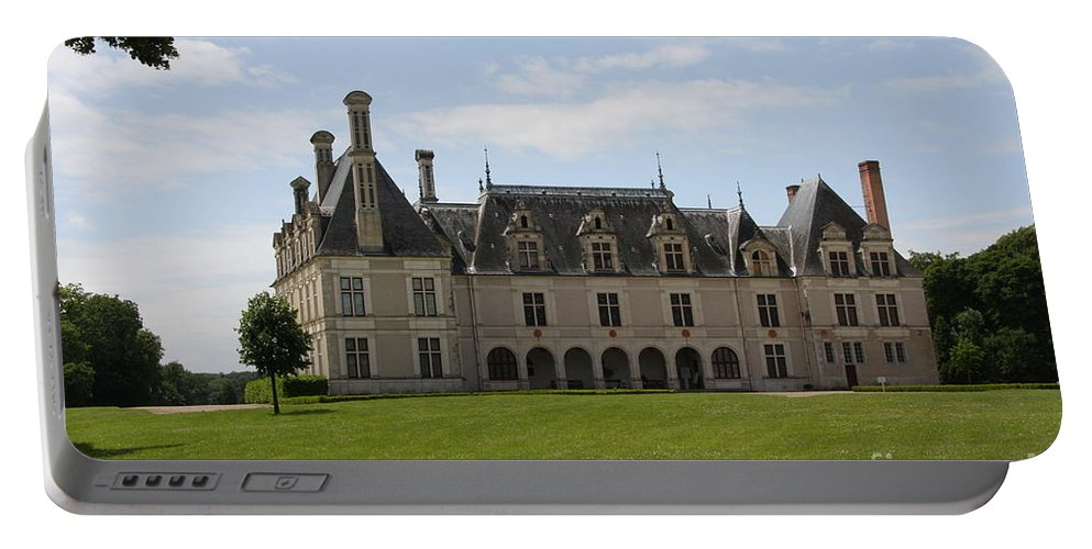 Palace Portable Battery Charger featuring the photograph Chateau Beauregard Loire Valley by Christiane Schulze Art And Photography