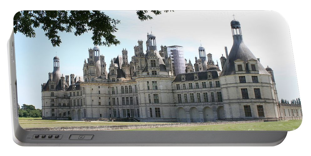 Palace Portable Battery Charger featuring the photograph Chateau Chambord - France by Christiane Schulze Art And Photography