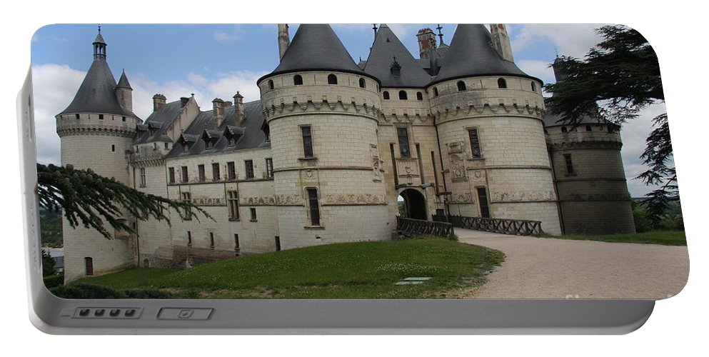 Palace Portable Battery Charger featuring the photograph Chateau Chaumont Steeples by Christiane Schulze Art And Photography