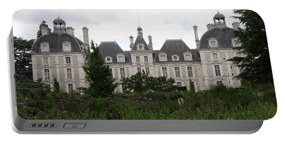 Palace Portable Battery Charger featuring the photograph Chateau Cheverney by Christiane Schulze Art And Photography