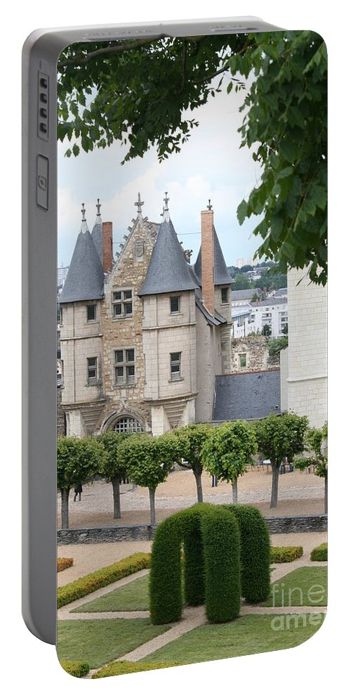 Castle Portable Battery Charger featuring the photograph Chateau D'angers - Chatelet View by Christiane Schulze Art And Photography