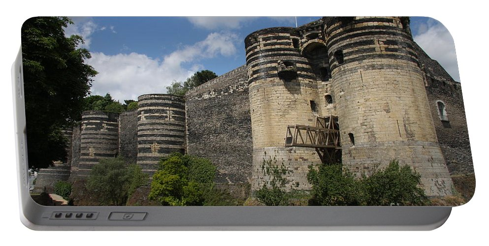 Castle Portable Battery Charger featuring the photograph Chateau D'angers - The Keep by Christiane Schulze Art And Photography