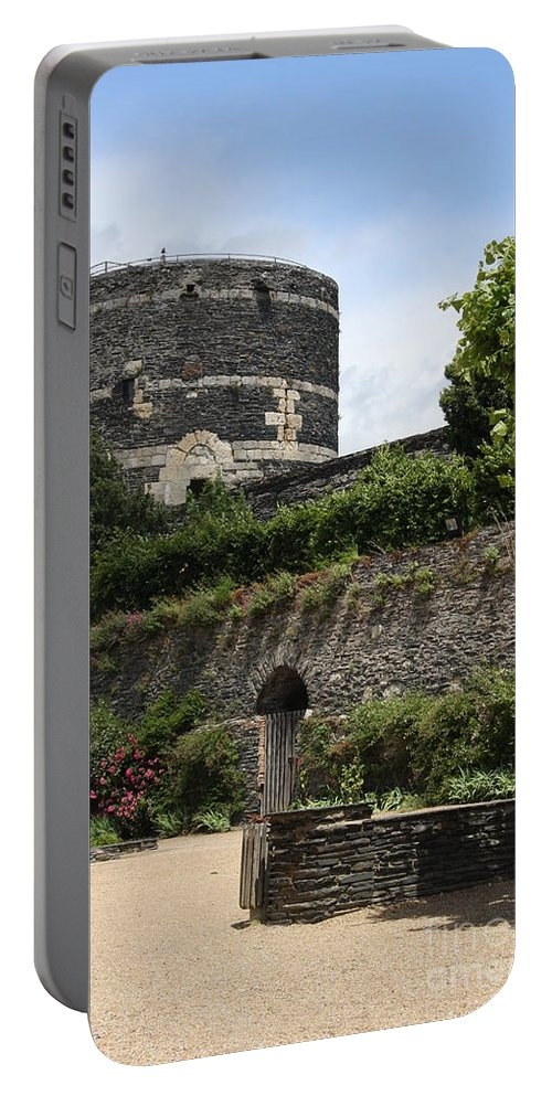 Castle Portable Battery Charger featuring the photograph Chateau D'angers Tower by Christiane Schulze Art And Photography