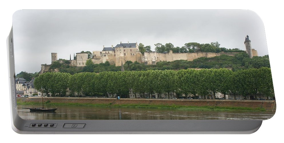 Castle Portable Battery Charger featuring the photograph Chateau De Chinon - France by Christiane Schulze Art And Photography