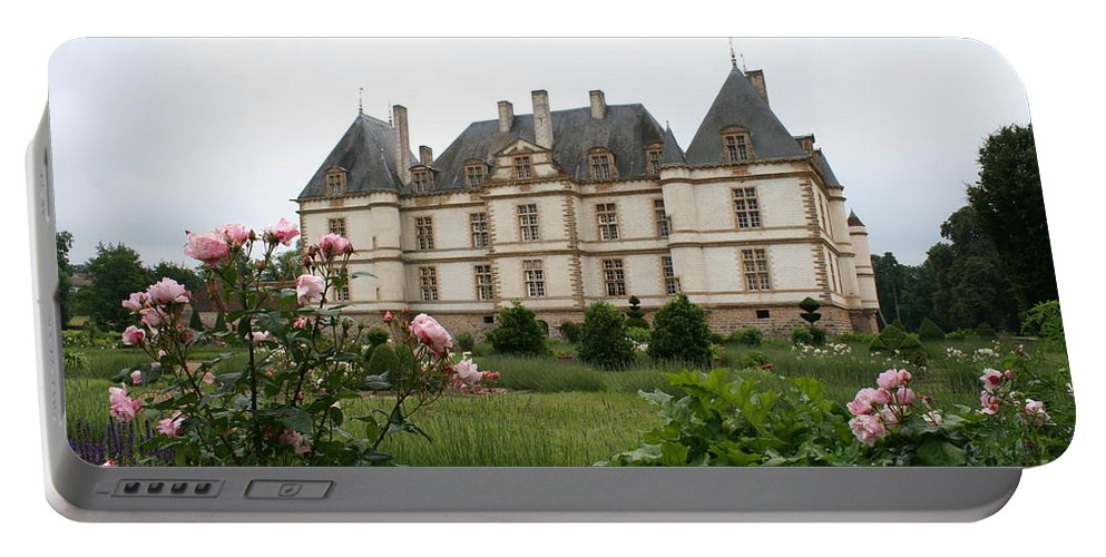 Palace Portable Battery Charger featuring the photograph Chateau De Cormatin Garden by Christiane Schulze Art And Photography