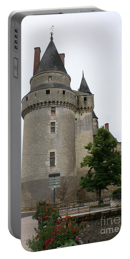 Castle Portable Battery Charger featuring the photograph Chateau De Langeais Tower by Christiane Schulze Art And Photography