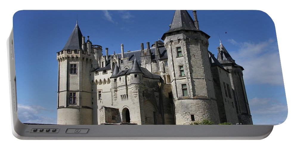 Castle Portable Battery Charger featuring the photograph Chateau De Saumur by Christiane Schulze Art And Photography