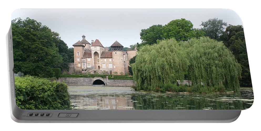 Palace Portable Battery Charger featuring the photograph Chateau De Sercy - Burgundy by Christiane Schulze Art And Photography