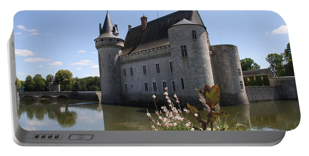 Castle Portable Battery Charger featuring the photograph Chateau De Sully-sur-loire And Moat by Christiane Schulze Art And Photography