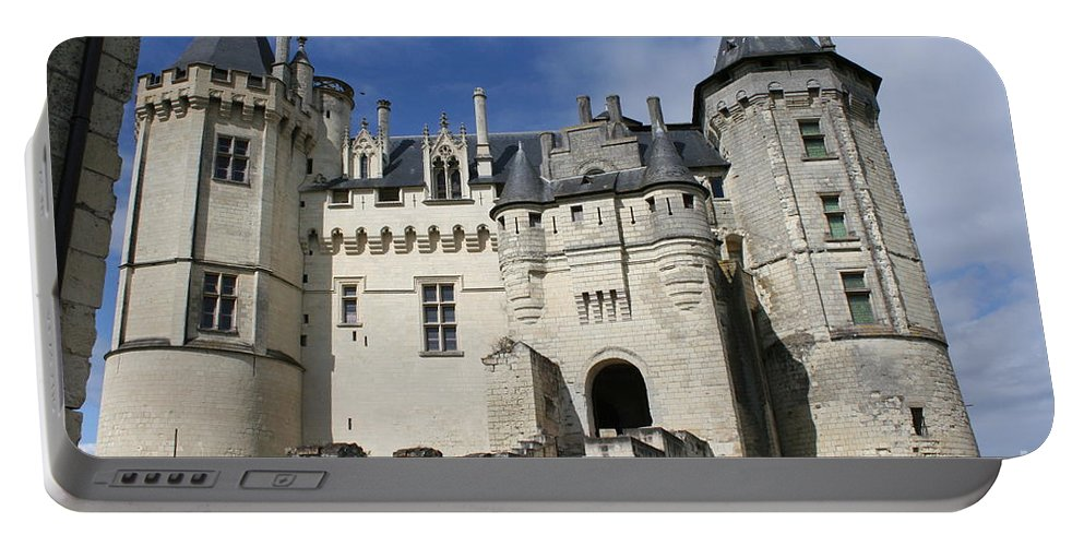 Castle Portable Battery Charger featuring the photograph Chateau Saumur by Christiane Schulze Art And Photography