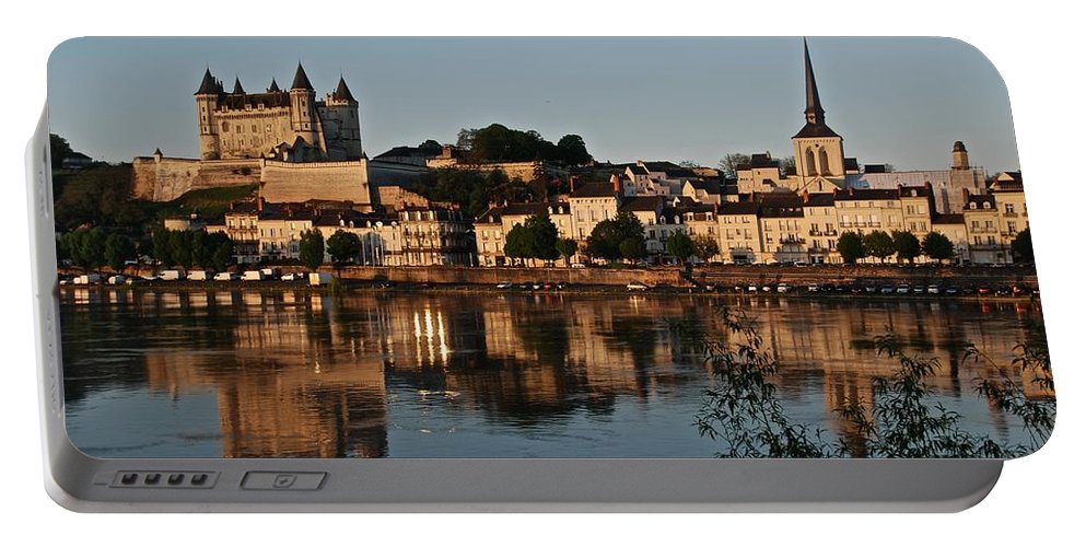 Saumur Portable Battery Charger featuring the photograph Chateau Saumur by Eric Tressler