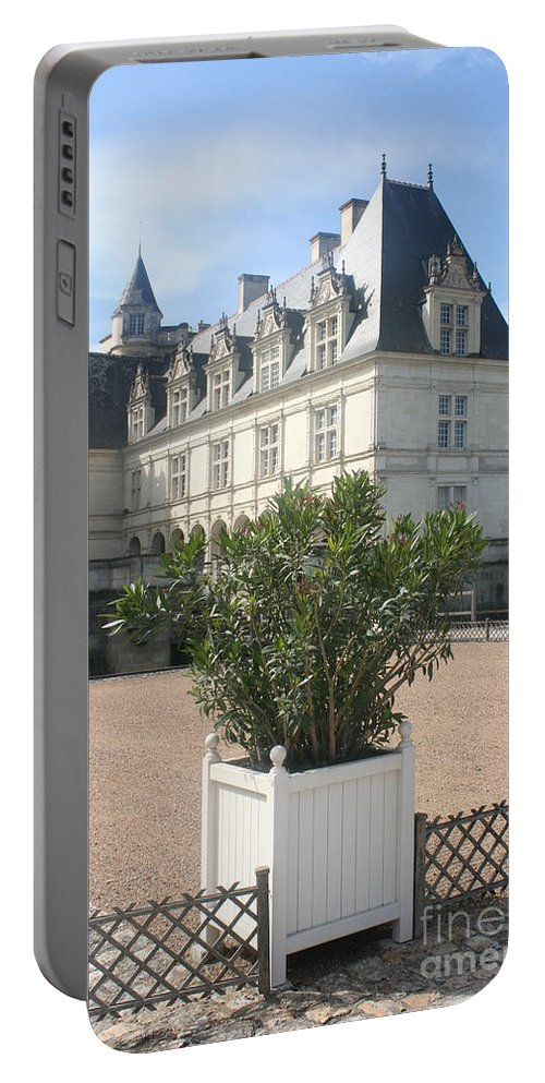 Palace Portable Battery Charger featuring the photograph Chateau Villandry View by Christiane Schulze Art And Photography