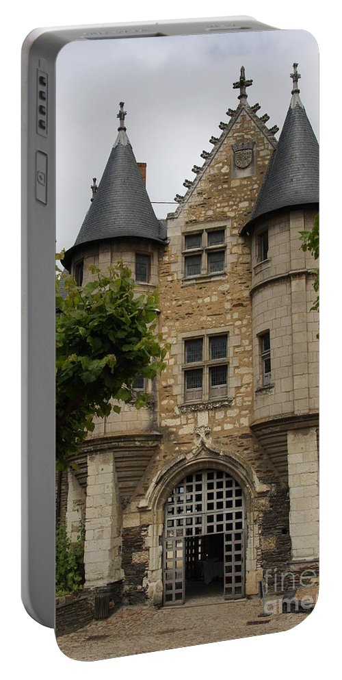 Castle Portable Battery Charger featuring the photograph Chatelet - Chateau D'angers by Christiane Schulze Art And Photography