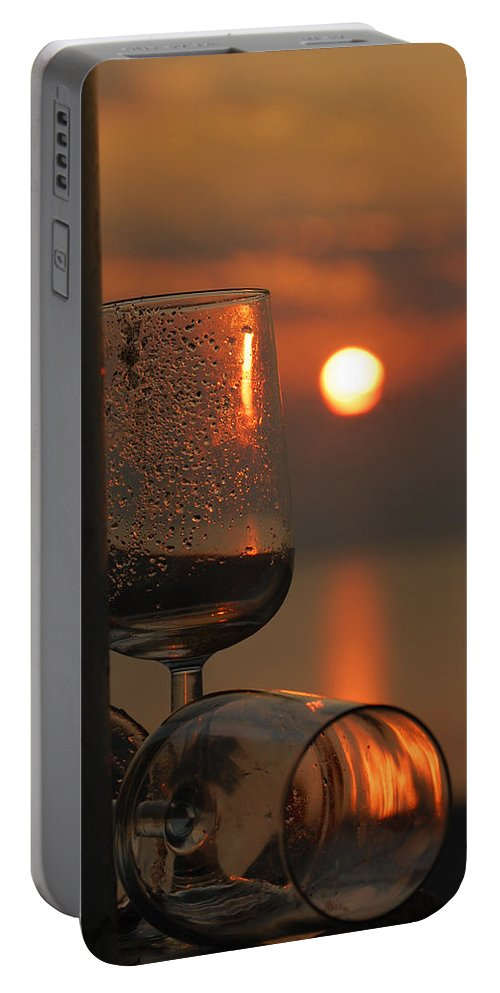 Glass Portable Battery Charger featuring the photograph Cheers by Leticia Latocki