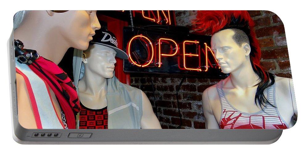 Mannequins Portable Battery Charger featuring the photograph Chelsea Boys by Ed Weidman