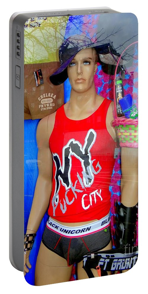 Mannequins Portable Battery Charger featuring the photograph Chelsea Window by Ed Weidman