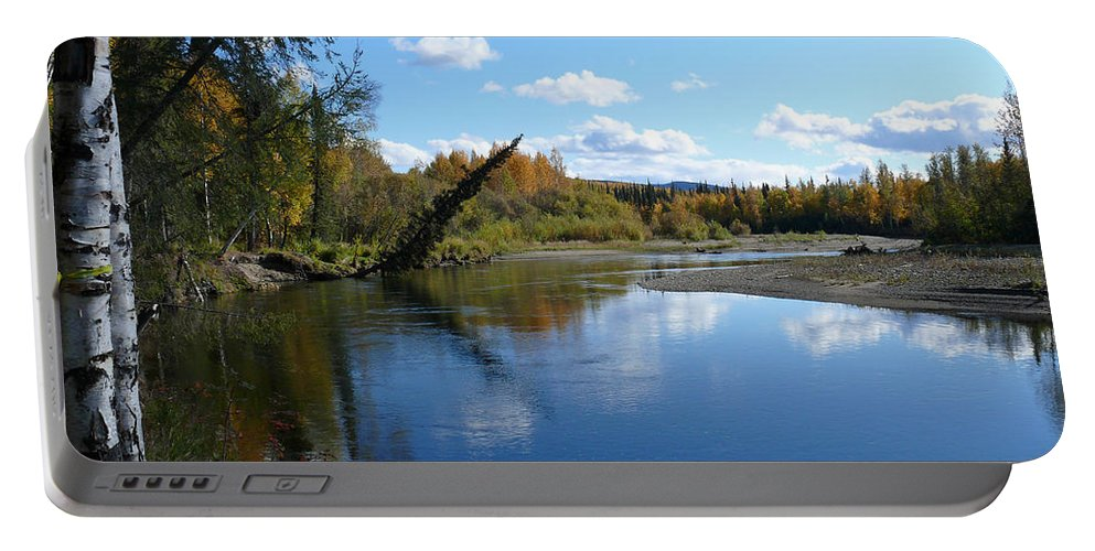 Chena Portable Battery Charger featuring the photograph Chena River by Dee Carpenter