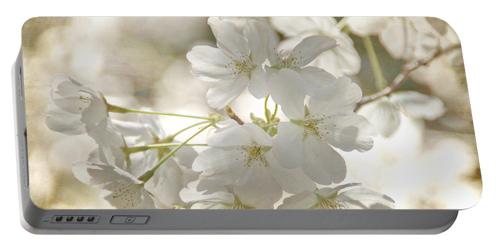 Flowers Portable Battery Charger featuring the photograph Cherry Blossoms by Peggy Hughes
