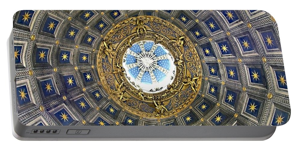 Cherubic Cupola Portable Battery Charger featuring the photograph Cherubic Cupola by Ellen Henneke