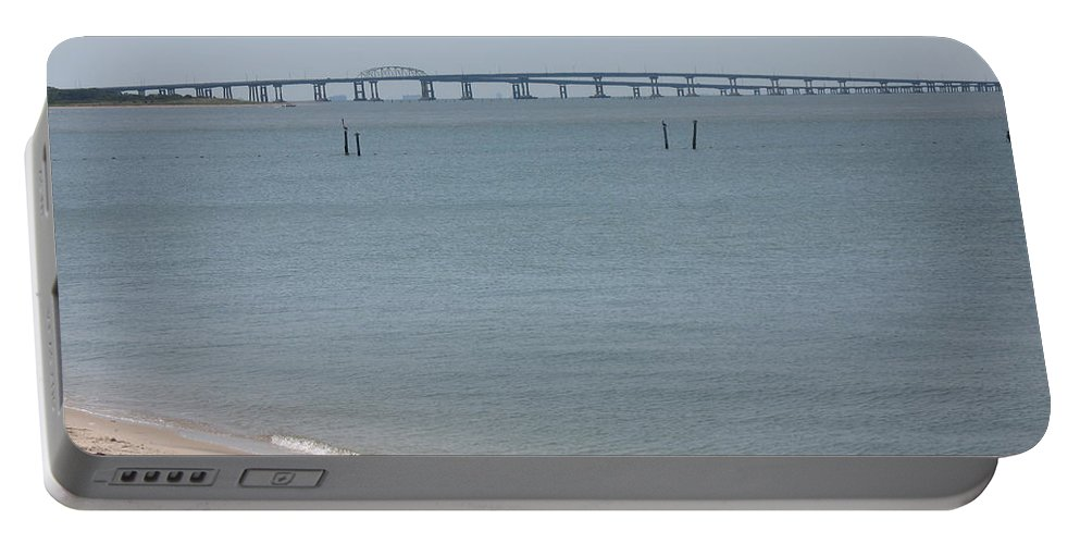 Bay Portable Battery Charger featuring the photograph Chesapeake Bay Bridge - Tunnel by Christiane Schulze Art And Photography