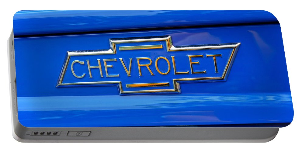 Chevrolet Portable Battery Charger featuring the photograph Chevrolet Emblem by Alan Hutchins