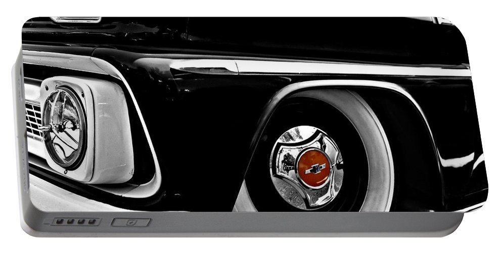 Chevy Portable Battery Charger featuring the photograph Chevy Truckin by Kristie Bonnewell