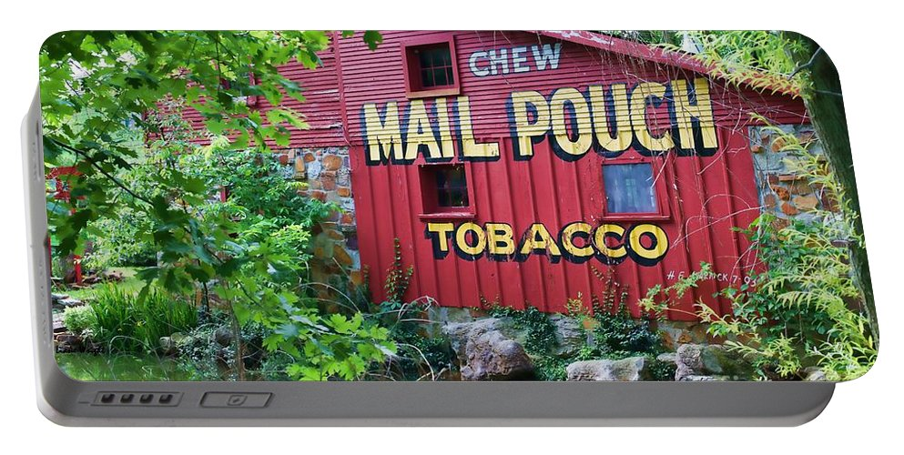 Chew Mail Pouch Tobacco Portable Battery Charger featuring the photograph Chew Mail Pouch Tobacco by Liane Wright
