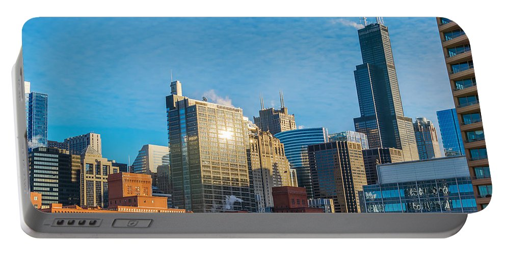 Architecture Portable Battery Charger featuring the photograph Chicago Cityscape During The Day by Jess Kraft