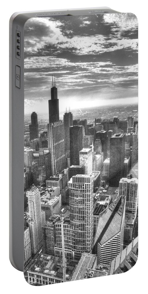Portable Battery Charger featuring the photograph Chicago by Patrick Warneka