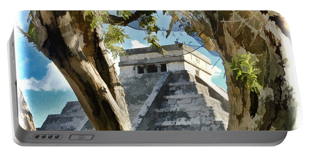 Cancun Portable Battery Charger featuring the photograph Chichen Itza - Yucatan Mexico by Jon Berghoff