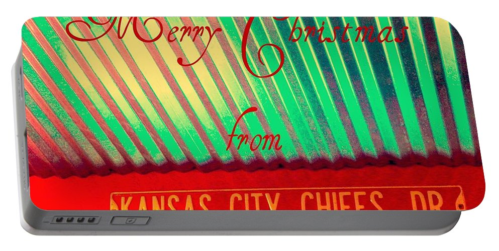 Christmas Portable Battery Charger featuring the photograph Chiefs Christmas by Chris Berry