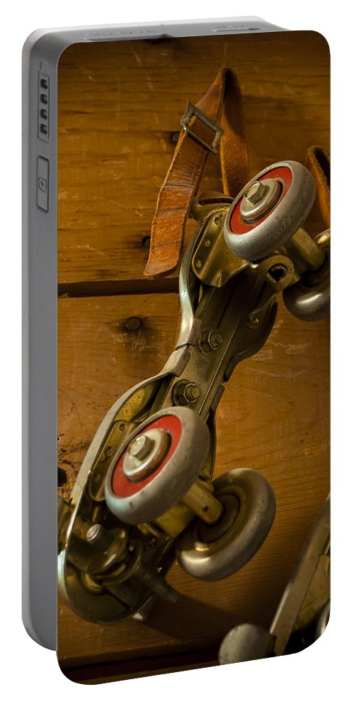 Skate Portable Battery Charger featuring the photograph Childhood Moments by Fran Riley
