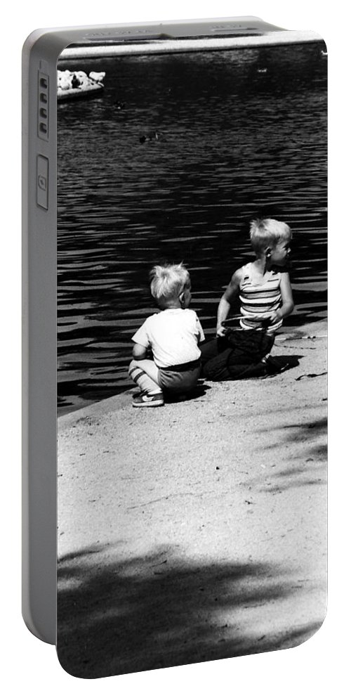 Children Portable Battery Charger featuring the photograph Children by Karl Rose