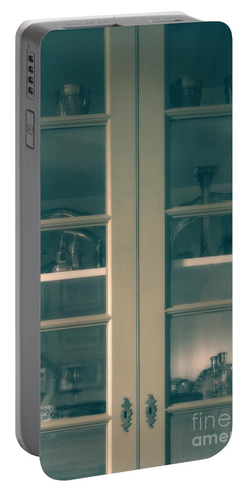 Dishes Portable Battery Charger featuring the photograph China Cabinet by Margie Hurwich