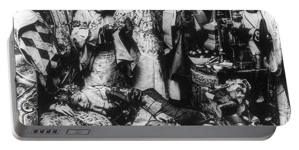 1919 Portable Battery Charger featuring the photograph China: Ceremony, C1919 by Granger