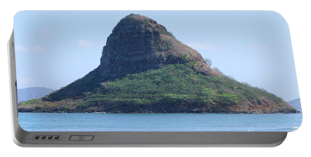 Island Portable Battery Charger featuring the photograph Chinaman's Cap by Mary Deal