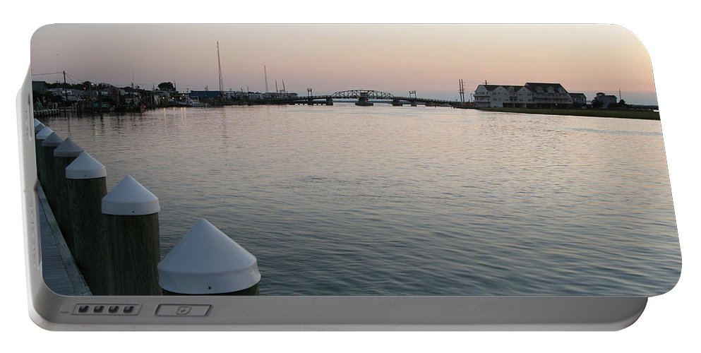 Sond Portable Battery Charger featuring the photograph Chincoteague Sound In The Eveninglight by Christiane Schulze Art And Photography