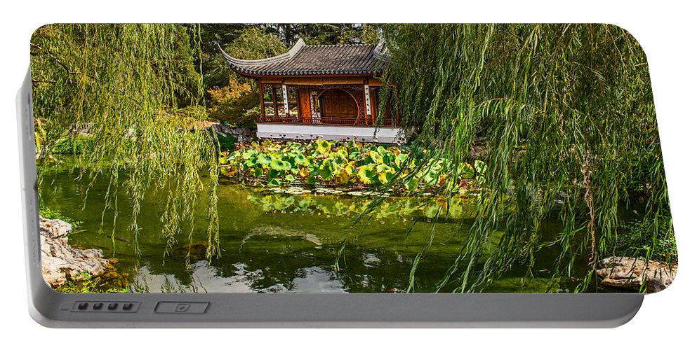 Chinese Garden Portable Battery Charger featuring the photograph Chinese Garden Breeze by Jamie Pham