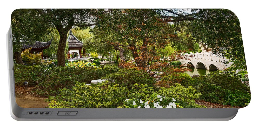 Chinese Garden Portable Battery Charger featuring the photograph Chinese Garden View by Jamie Pham